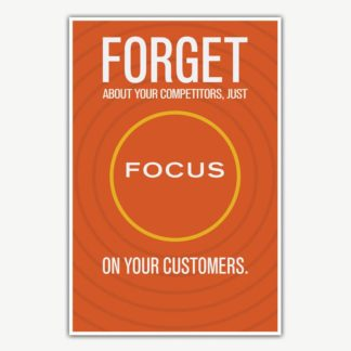 Focus On Your Customers Poster Art | Inspirational Posters For Offices