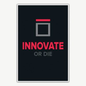 Innovate Or Die Poster | Inspirational Posters For Offices
