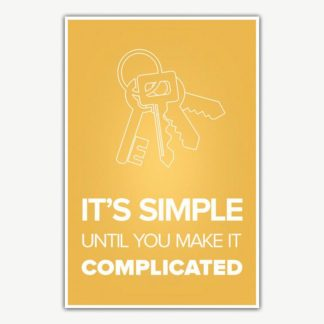 It's Simple Until You Make It Complicated Poster | Inspirational Posters For Offices