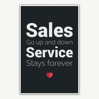 Service Stays Forever Poster Art | Inspirational Posters For Offices