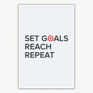 Set Goals Reach Repeat Poster | Motivational Posters For Offices
