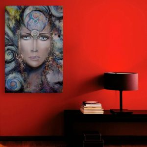 Canvas Painting – Beautiful Lady Modern Abstract Art Wall Painting for Living Room, Bedroom, Office, Hotels, Drawing Room (91cm X 61cm)