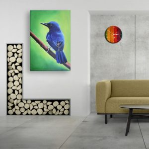 Canvas Painting – Beautiful Bird Wall Painting for Living Room, Bedroom, Office, Hotels, Drawing Room (91cm X 61cm)