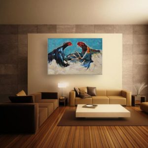 Canvas Painting – Beautiful Birds Wall Painting for Living Room, Bedroom, Office, Hotels, Drawing Room (91cm X 61cm)