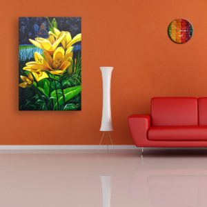 Canvas Painting – Beautiful Floral Flower Wall Painting for Living Room, Bedroom, Office, Hotels, Drawing Room (91cm X 61cm)