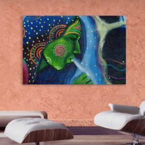 Canvas Painting – Beautiful Lady Tribal Art Wall Painting for Living Room, Bedroom, Office, Hotels, Drawing Room (91cm X 61cm)