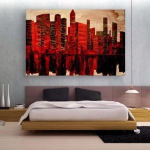 Canvas Painting – Modern City Art Wall Painting for Living Room, Bedroom, Office, Hotels, Drawing Room (91cm X 61cm)
