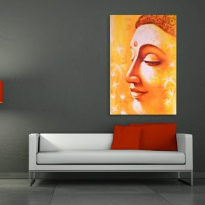 Canvas Painting – Beautiful Buddha Art Wall Painting for Living Room, Bedroom, Office, Hotels, Drawing Room (91cm X 61cm)