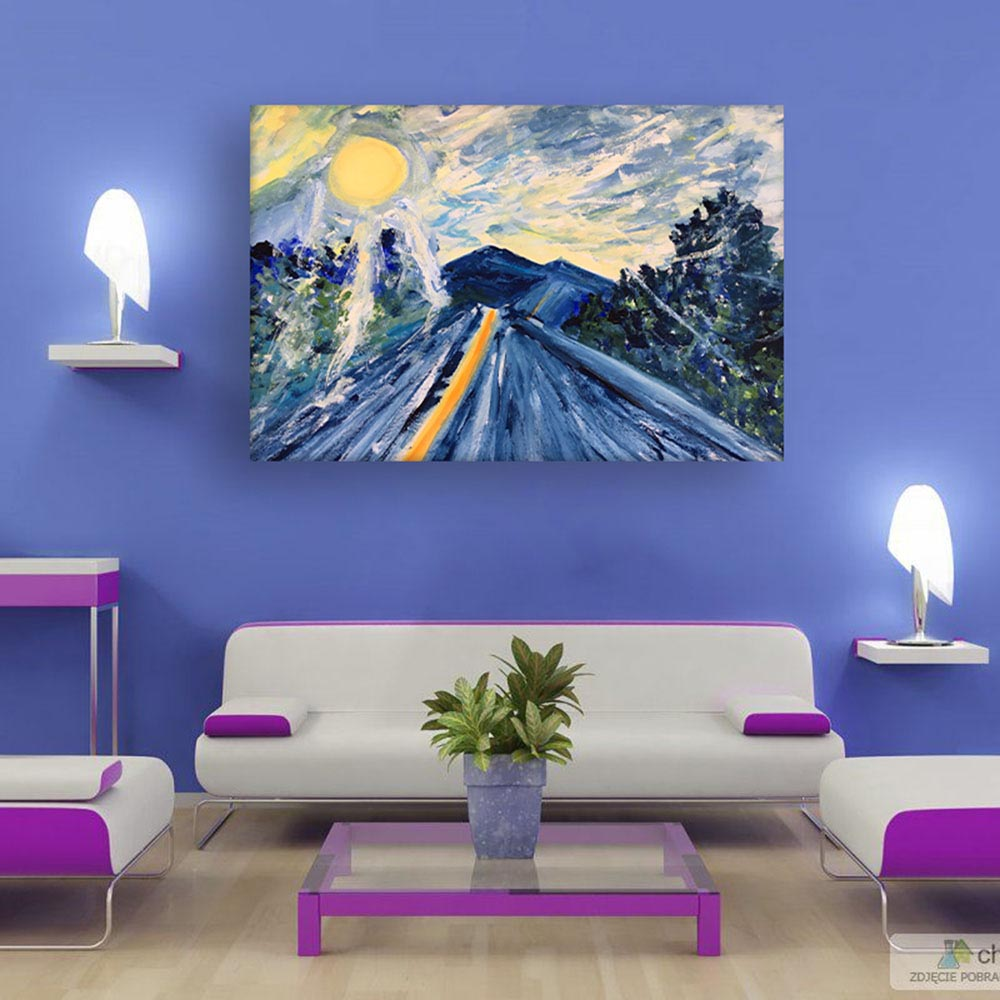 Canvas Painting Beautiful Nature Art Wall Painting For Living Room Bedroom Office Hotels Drawing Room 91cm X 61cm