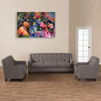 Canvas Painting - Beautiful Radha Krishna Art Wall Painting for Living Room