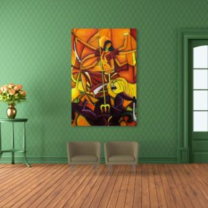 Canvas Painting – Indian Goddess Art Religious Wall Painting for Living Room, Bedroom, Office, Hotels, Drawing Room (91cm X 61cm)