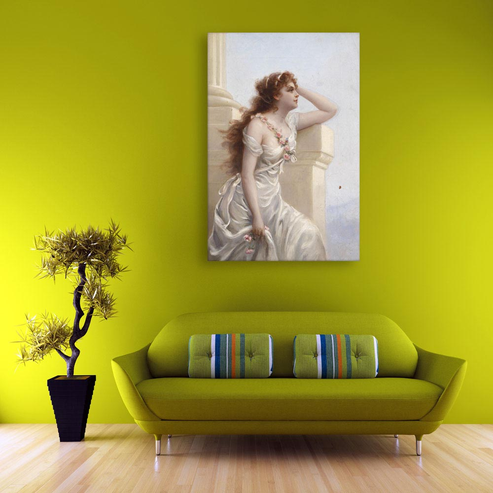 Canvas Painting - Beautiful Girl Art Wall Painting for Living Room ...