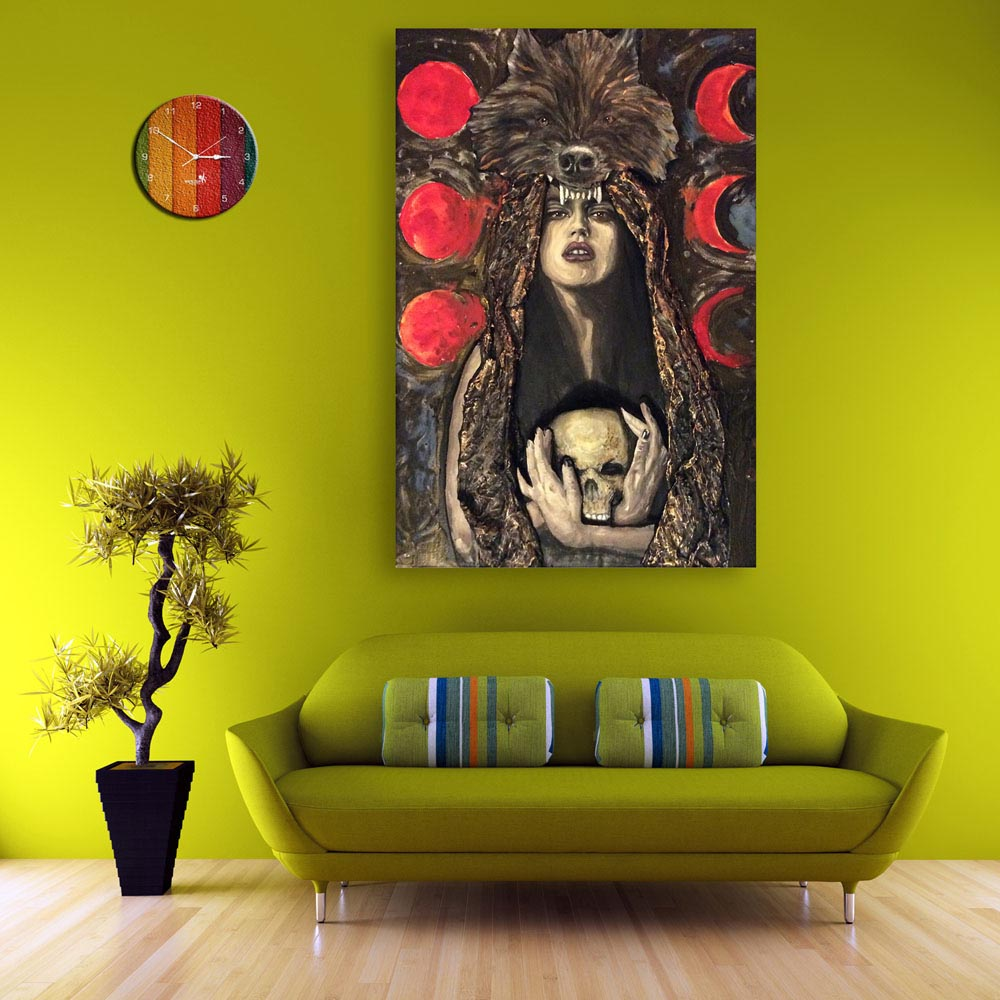 Canvas Painting - Beautiful Lady Art Wall Painting for Living Room ...