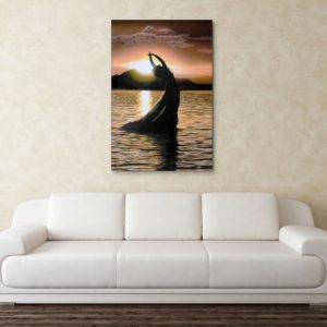 Canvas Painting – Beautiful Lady In Sea Wall Painting for Living Room, Bedroom, Office, Hotels, Drawing Room (91cm X 61cm)