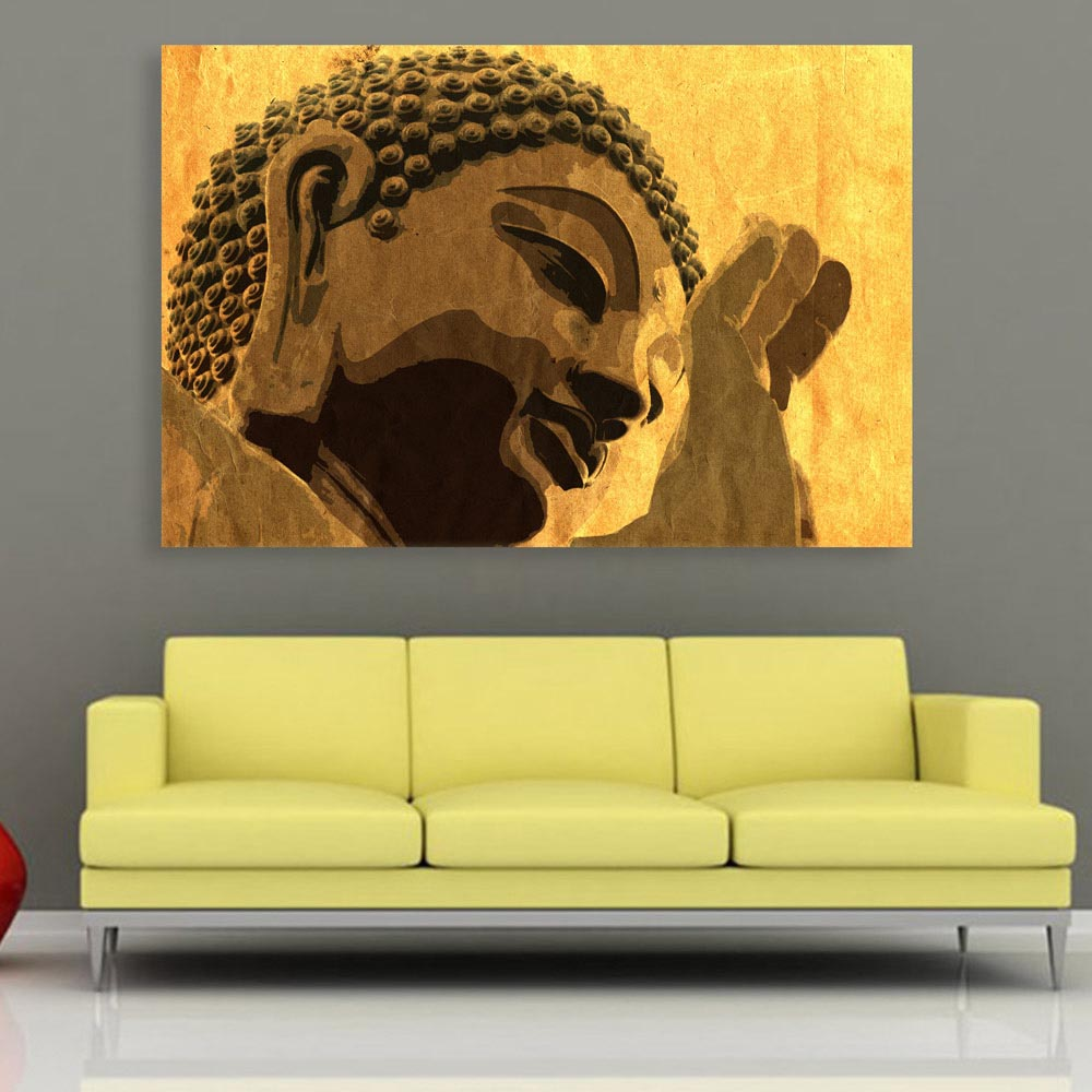 Canvas painting beautiful buddha religious art wall painting for living room bedroom office hotels drawing room 91cm x 61cm