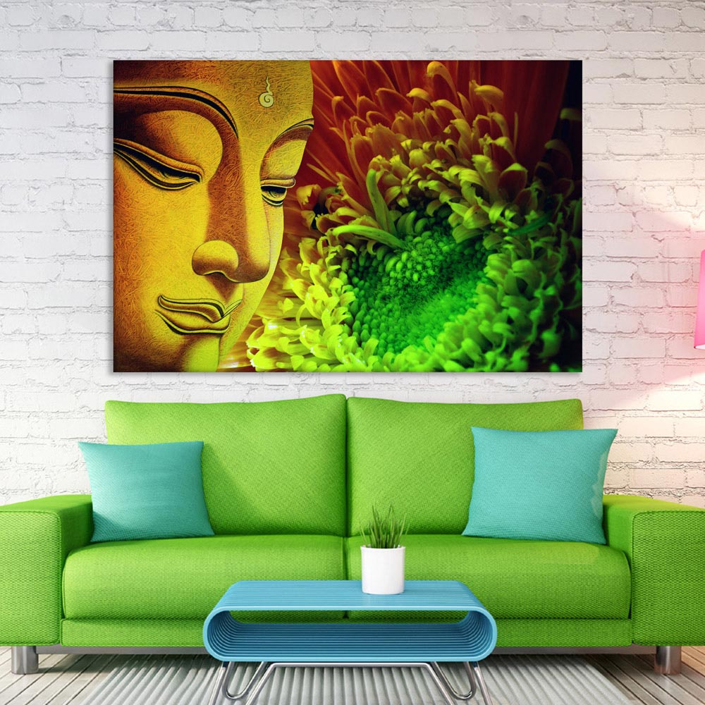 Canvas Painting Beautiful Buddha Religious Art Wall Painting For