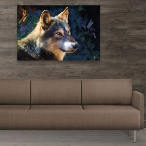 Canvas Painting – Beautiful Wolf Art Wall Painting for Living Room, Bedroom, Office, Hotels, Drawing Room (91cm X 61cm)