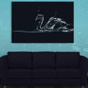 Canvas Painting – Beautiful Swan Art Wall Painting for Living Room, Bedroom, Office, Hotels, Drawing Room (91cm X 61cm)