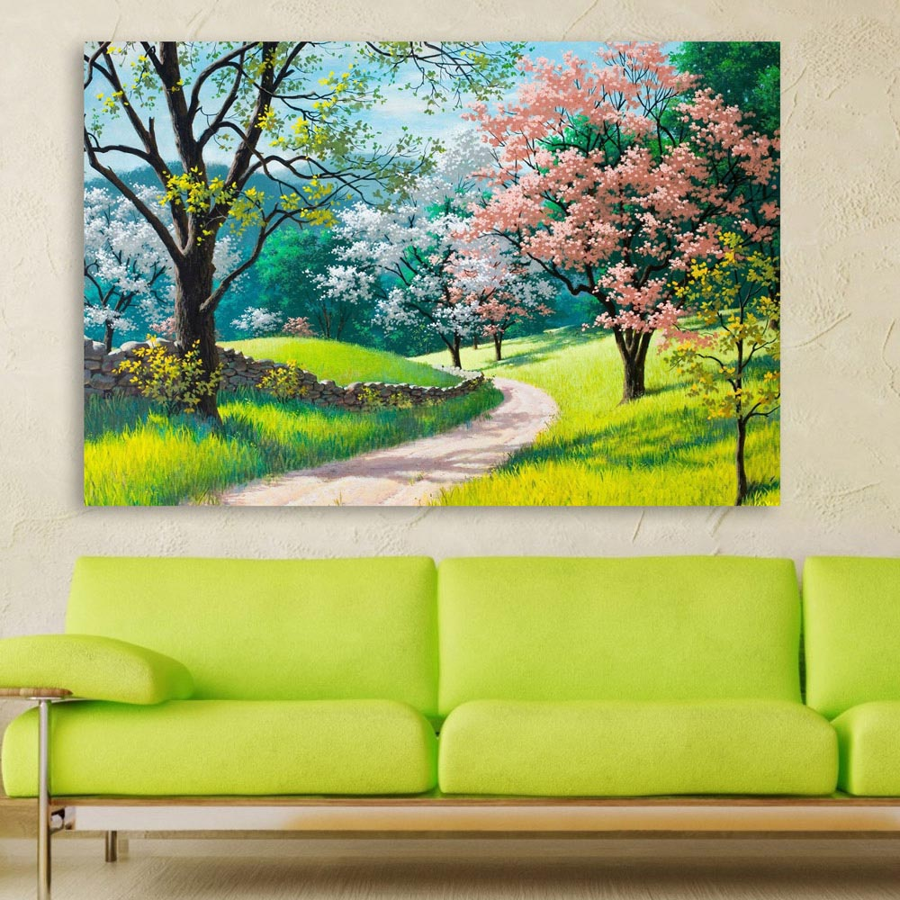 Canvas Painting Beautiful Nature Modern Art Wall Painting For Living Room Bedroom Office Hotels Drawing Room 91cm X 61cm Inephos