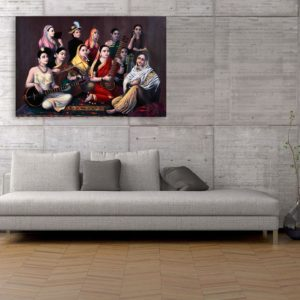 Canvas Painting – Raja Ravi Varma Paintings – Wall Painting for Living Room, Bedroom, Office, Hotels, Drawing Room (91cm X 61cm)
