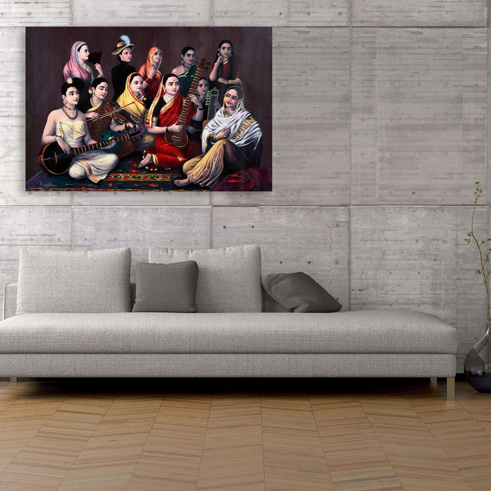 Canvas Painting Raja Ravi Varma Paintings Wall Painting For Living Room Bedroom Office Hotels Drawing Room 91cm X 61cm