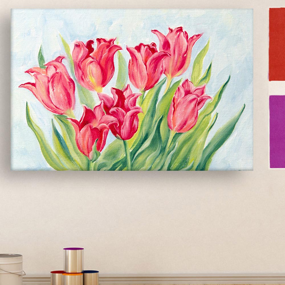 Canvas Painting Beautiful Flowers