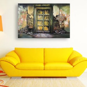 Canvas Painting – Beautiful Ancient Gate Art Wall Painting for Living Room, Bedroom, Office, Hotels, Drawing Room (91cm X 61cm)