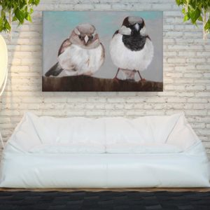 Canvas Painting – Beautiful Birds Art Wall Painting for Living Room, Bedroom, Office, Hotels, Drawing Room (91cm X 61cm)