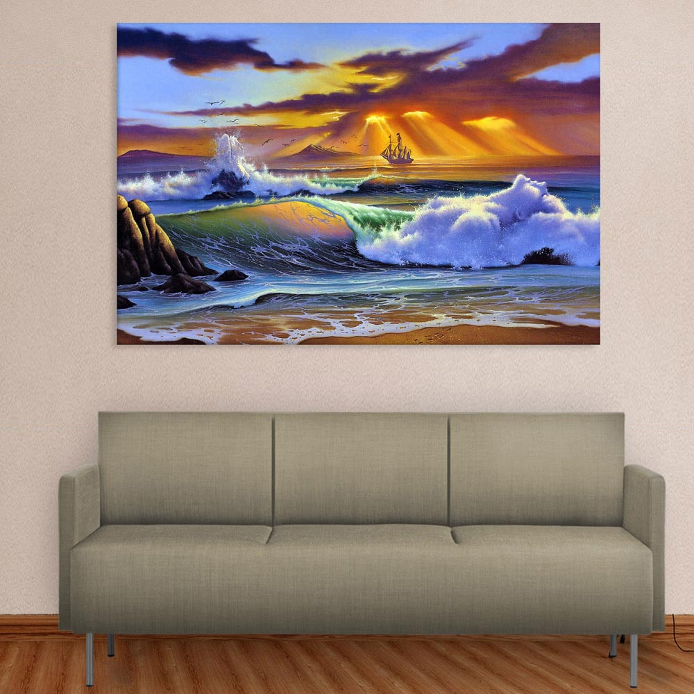 Canvas Painting Beautiful Nature