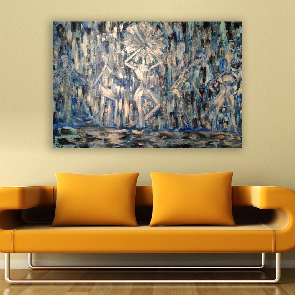 Canvas painting modern women abstract art wall painting for living room