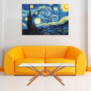 Canvas Painting – Beautiful Starry Night Art Wall Painting for Living Room, Bedroom, Office, Hotels, Drawing Room (91cm X 61cm)