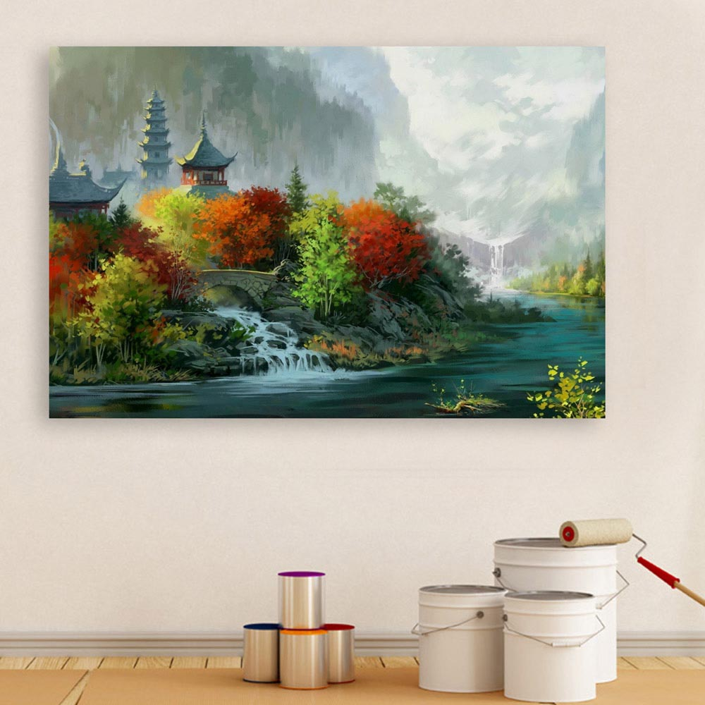 c49feafd5 Canvas Painting - Beautiful Nature Modern Art Wall Painting for Living Room