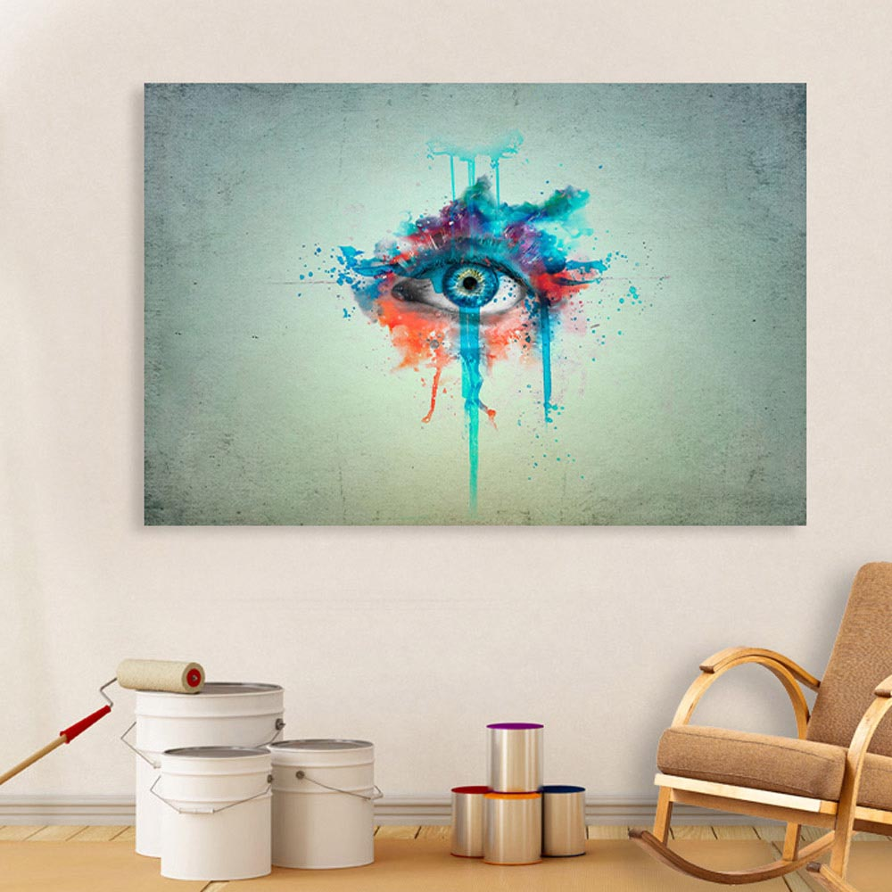Canvas Painting Beautiful Eye Art Wall Painting For Living Room Bedroom Office Hotels Drawing Room 91cm X 61cm