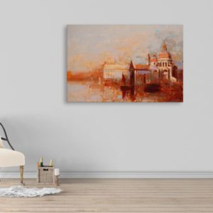 Canvas Painting – Beautiful Fort Art Wall Painting for Living Room, Bedroom, Office, Hotels, Drawing Room (91cm X 61cm)