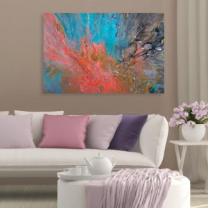 Canvas Painting – Modern Abstract Art Wall Painting for Living Room, Bedroom, Office, Hotels, Drawing Room (91cm X 61cm)
