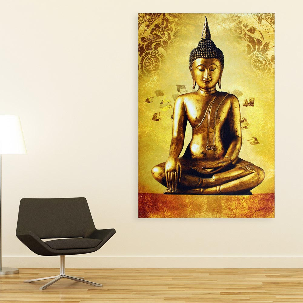 Canvas Painting - Beautiful Buddha Religious Art Wall Painting for ...