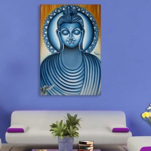 Canvas Painting – Beautiful Lord Buddha Art Wall Painting for Living Room, Bedroom, Office, Hotels, Drawing Room (61cm X 91cm)