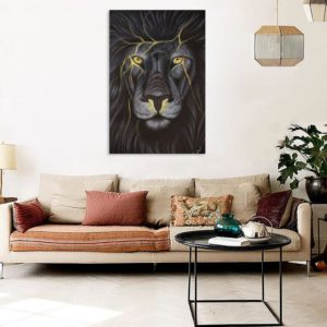 Canvas Painting – Beautiful Lion Art Wall Painting for Living Room, Bedroom, Office, Hotels, Drawing Room (91cm X 61cm)