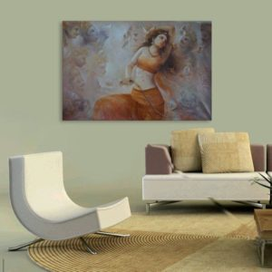 Canvas Painting – Beautiful Indian Women Art Wall Painting for Living Room, Bedroom, Office, Hotels, Drawing Room (91cm X 61cm)