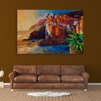 Canvas Painting - Beautiful Sea Shore Art Wall Painting for Living Room