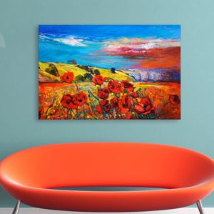 Canvas Painting – Beautiful Flowers Floral Art Wall Painting for Living Room, Bedroom, Office, Hotels, Drawing Room (91cm X 61cm)