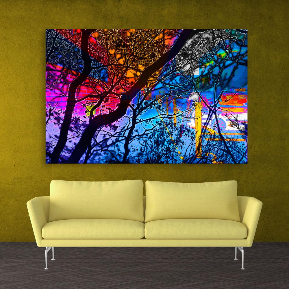 Canvas Painting - Modern Abstract Art Wall Painting for Living Room ...
