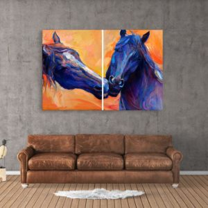 Canvas Painting – Beautiful Horses Art Wall Painting for Living Room, Bedroom, Office, Hotels, Drawing Room (91cm X 61cm)