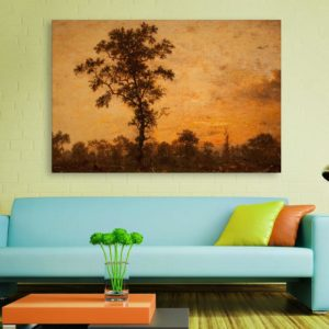 Canvas Painting – Beautiful Ancient Tree Art Wall Painting for Living Room, Bedroom, Office, Hotels, Drawing Room (91cm X 61cm)