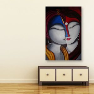Canvas Painting – Beautiful Radha Krishna Art Wall Painting for Living Room, Bedroom, Office, Hotels, Drawing Room (91cm X 61cm)