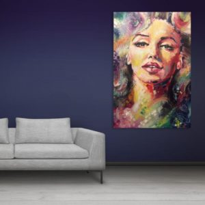 Canvas Painting – Beautiful Women Art Wall Painting for Living Room, Bedroom, Office, Hotels, Drawing Room (91cm X 61cm)