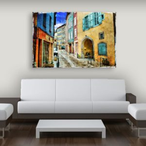 Canvas Painting – Beautiful Italy Art Wall Painting for Living Room, Bedroom, Office, Hotels, Drawing Room (91cm X 61cm)