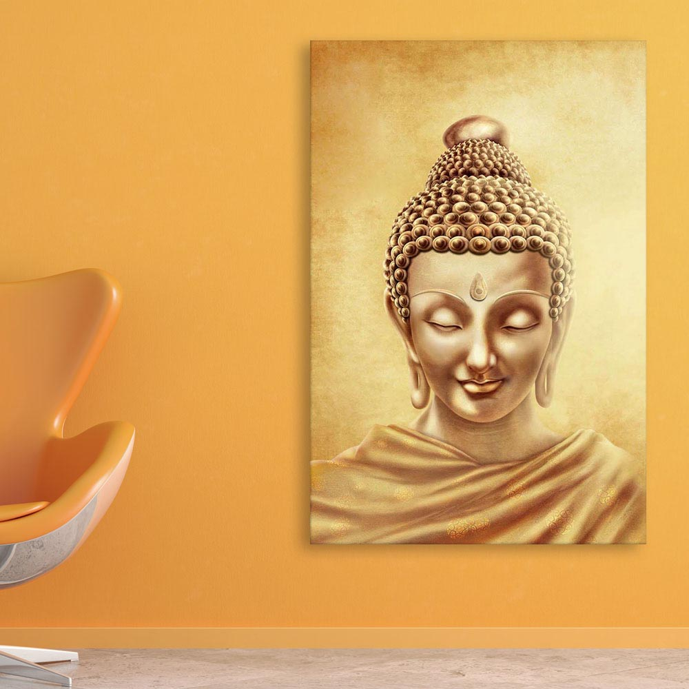 Canvas Painting - Beautiful Buddha Art Wall Painting for Living Room ...