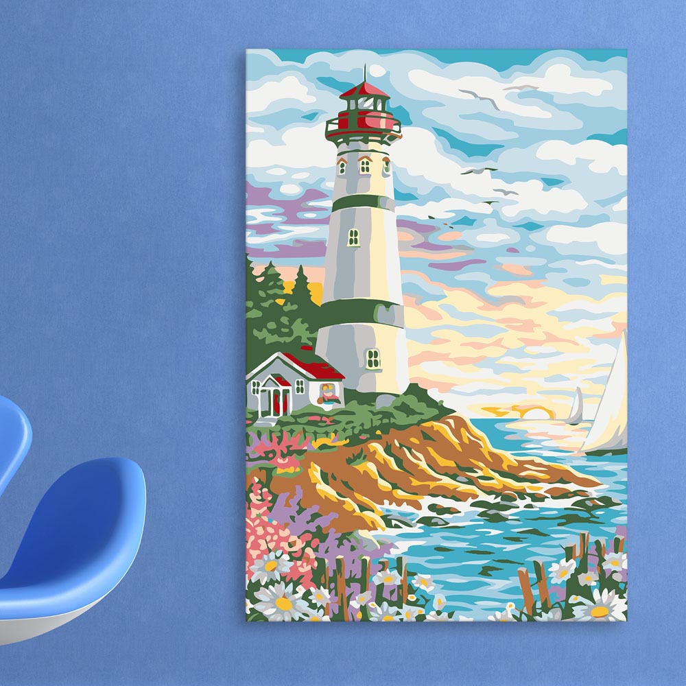 Canvas painting beautiful lighthouse art wall painting for living room bedroom office hotels drawing room 91cm x 61cm