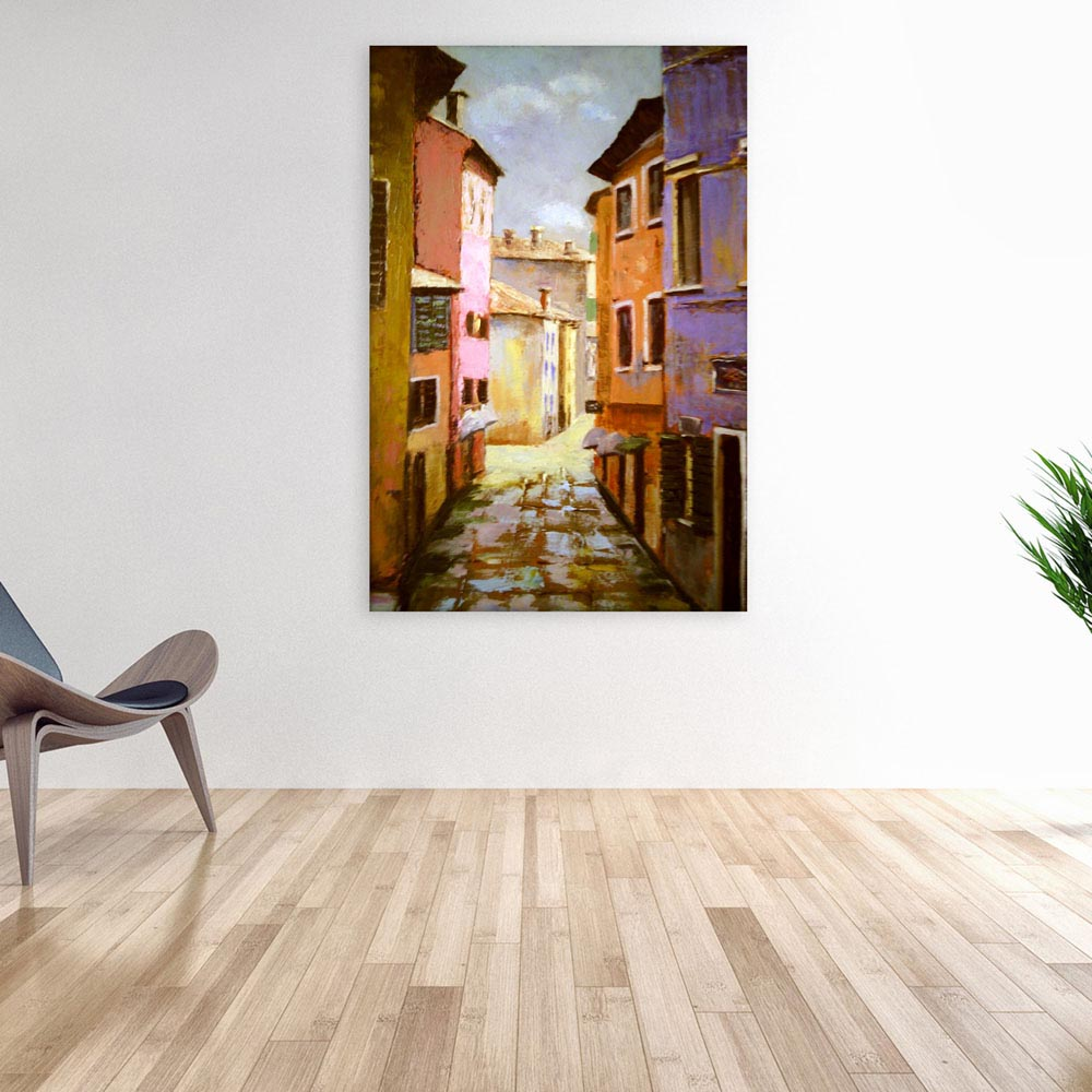 Canvas Painting - Beautiful Italy Art Wall Painting for Living Room ...